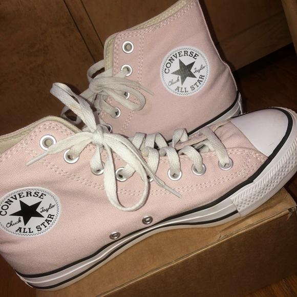 Light Pink Converse High Tops   Poshmark